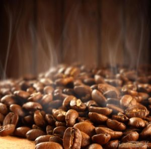steaming-coffee-beans