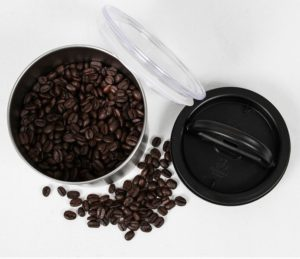 Place coffee in an air-tight container