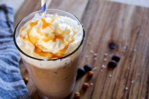 Iced coffee recipes: Salted caramel iced coffee