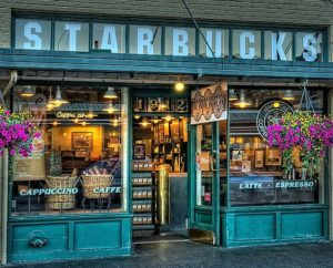 Original Starbucks at Seattle, USA