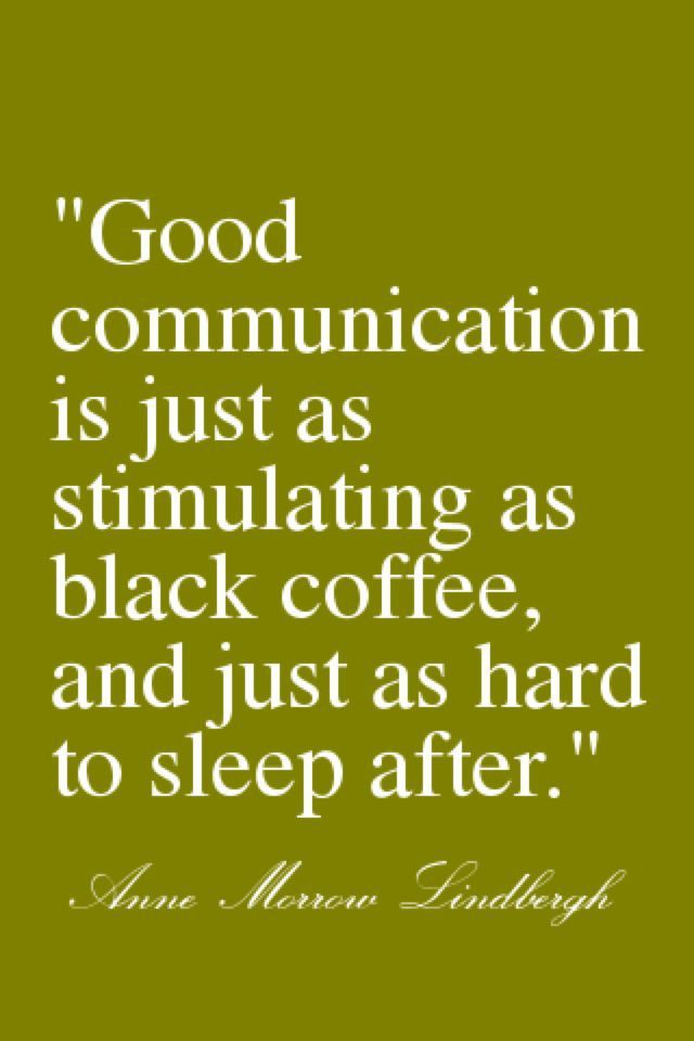 Coffee quotes on communication