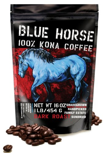 Blue Horse Kona Dark Roast Espresso Coffee Beans