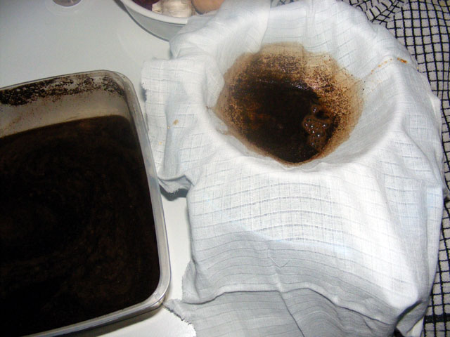 Coffee filter substitutes: Muslin cloth
